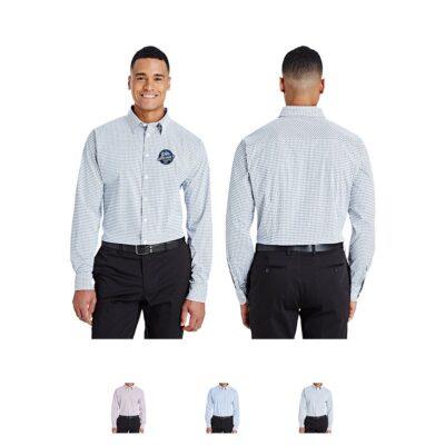 Devon & Jones® CrownLux Performance Men's Micro Windowpane Shirt