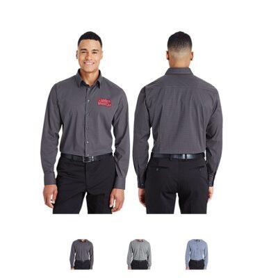 Devon & Jones® CrownLux Performance Men's Tonal Mini Check Shirt