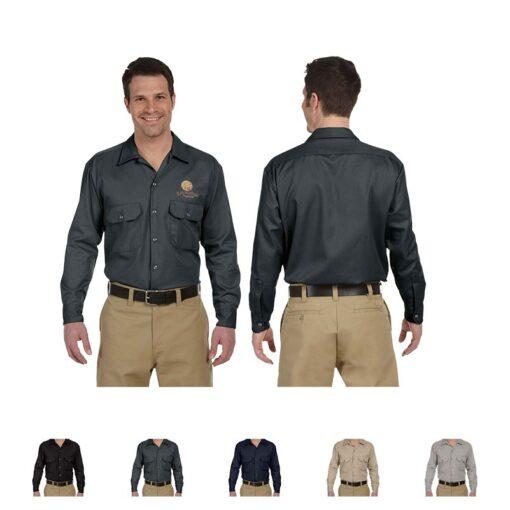 Dickies® Men's 5.25 Oz. Long Sleeve Work Shirt
