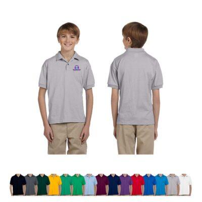 Gildan® Youth 6 Oz. 50/50 Color Jersey Polo Shirt