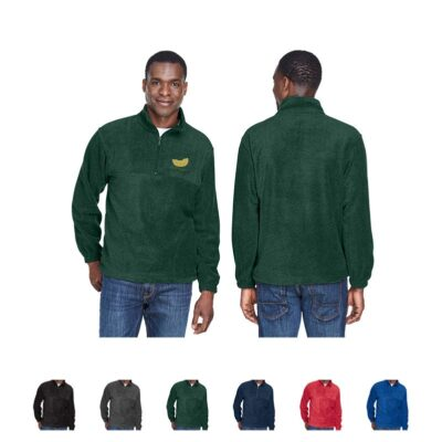 Harriton® Adult 8 Oz. Quarter Zip Fleece Pullover