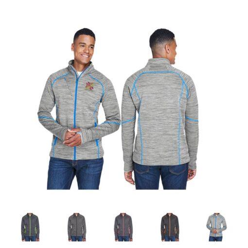 North End® Men's Flux Mélange Bonded Fleece Jacket