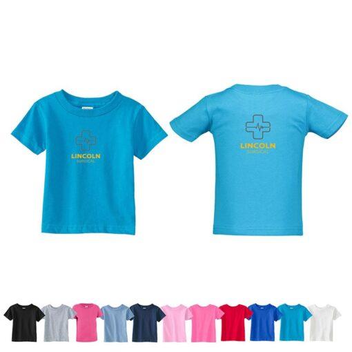 Rabbit Skins Infant Colored Cotton Jersey T-Shirt