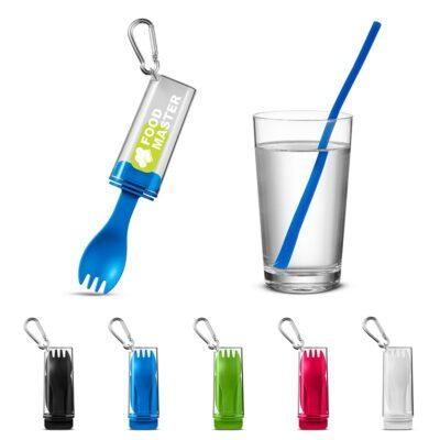 Silicone Straw w/Utensil Set