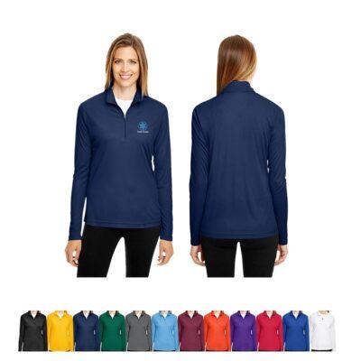 Team 365® Ladies' Zone Performance Quarter-Zip Shirt