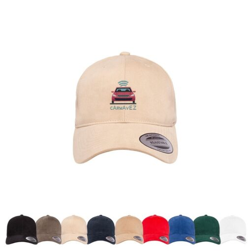 Yupoong® Adult Brushed Cotton Twill Mid-Profile Cap