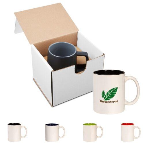 11 Oz. Two Tone C-Handle Mug in Individual Mailer