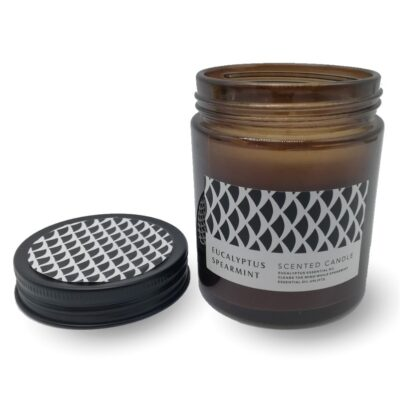 Scented Candle in Glass Jar w/Lid